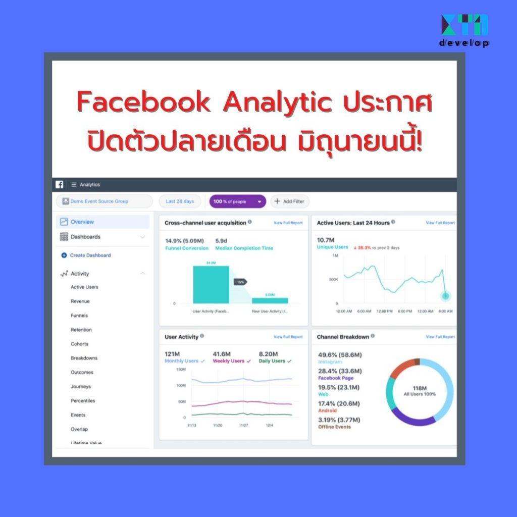 Facebook Analytic ประกาศปิดตัวปลายเดือน มิถุนายนนี้